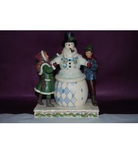 Bonhomme de neige et enfants