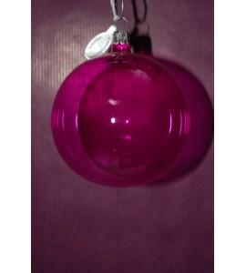 Boule rose transparente (2)
