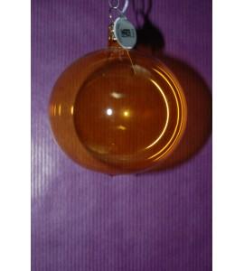Set de 3 boules jaunes transparentes