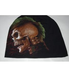 Bonnet crâne punk
