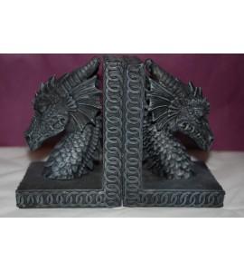 Serre livres dragon noir