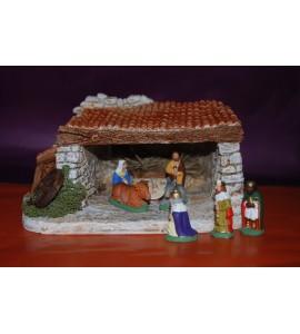 Nativité, rois mages et étable