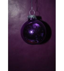 Boite de Boules violettes brillantes
