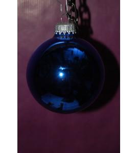 Boite de boules bleues brillantes
