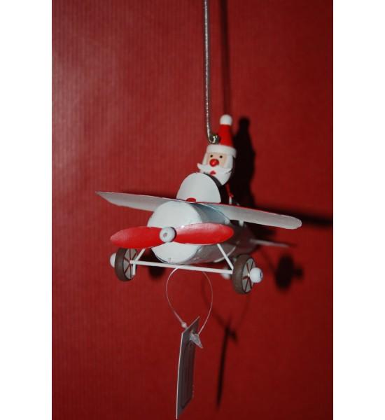 Père Noël en Avion