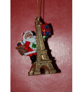 Père noël sur tour Eiffel