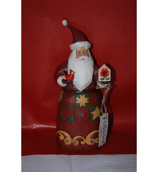 Santa with bird house