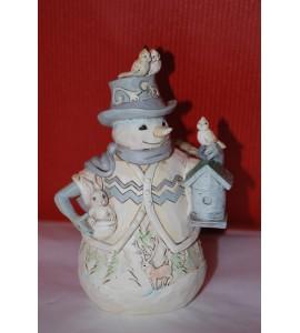 White Woodland Snowman