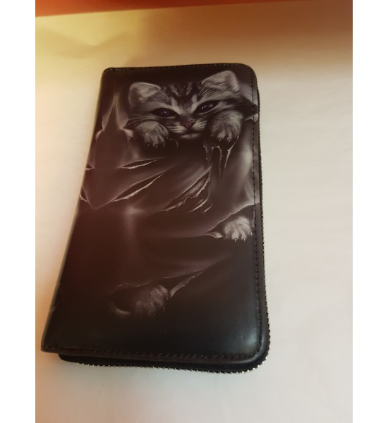 Porte Feuille Chat