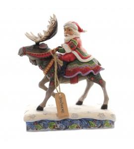 Père Noël sur un Elan