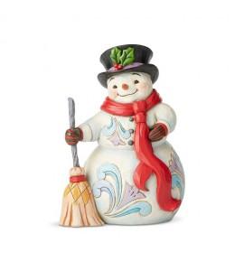 Bonhomme de Neige avec un Balai
