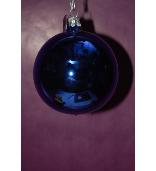 Set de 3 boules bleues brillantes