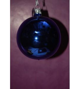 Boule bleue brillante 8 centimètres