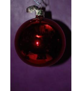 Set de 3 boules rouges brllantes