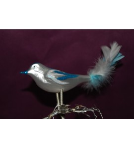Oiseau blanc et bleu