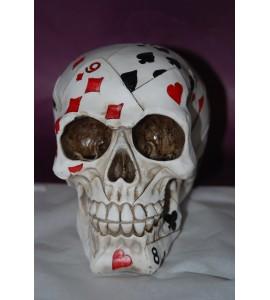 Crâne jeu de cartes