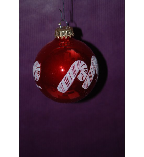 Boules rouges candy cane