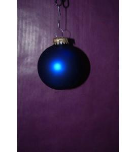 Boite de Boules bleues mates