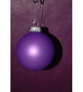 Boite de boules violettes mates