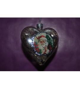 Coeur avec Père Noël