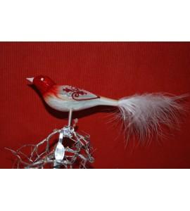 Oiseau Rouge et Blanc