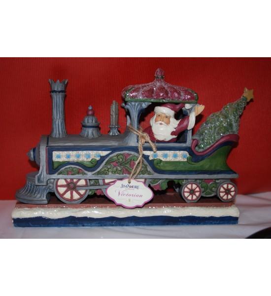 Santa in train