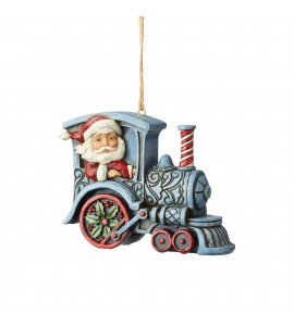 Père Noël en Locomotive