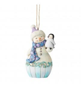Bonhomme de Neige avec Pingouin