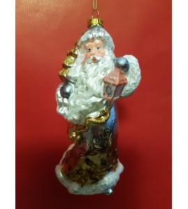 Père Noël avec Sapin et Lanterne