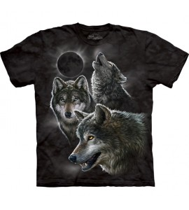 The Mountain Eclipse Wolves Wolf T Shirt
