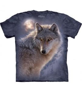 The Mountain Adventure Wolf Animal T Shirt