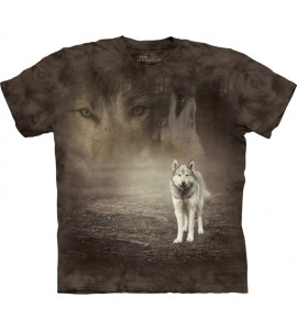 The Mountain Grey Wolf Portrait Animal T Shirt Child