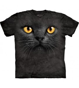 The Mountain Big Face Black Cat Pet T Shirt