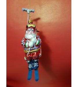 Père Noël sur un Télésiège