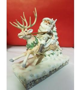 Père Noël sur un Renne