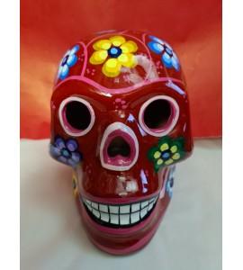 Crâne Mexicain Rouge