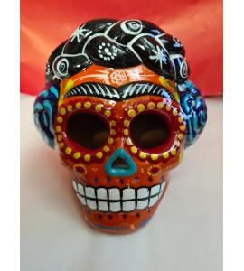 Crâne Frida Orange
